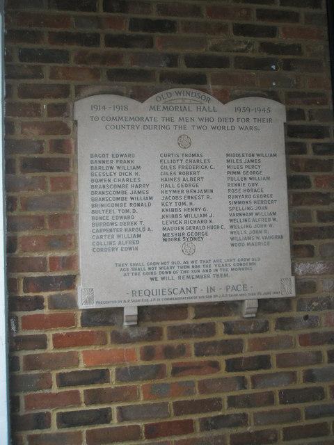 Old Windsor War Memorial