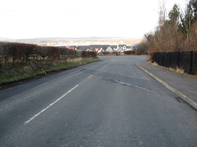 Junction of minor road and A68