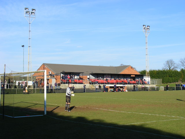 Woodford Utd, Main Stand and Clubhouse.