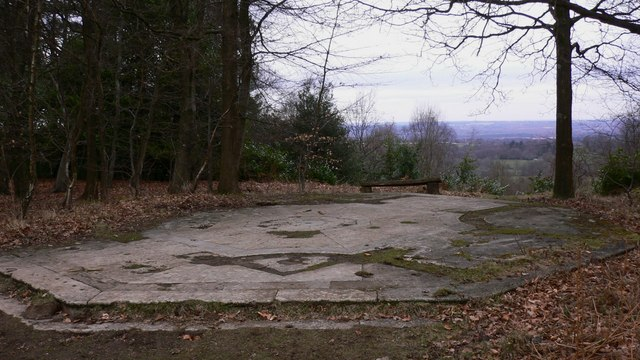 Base of temple on Gibbet Hill