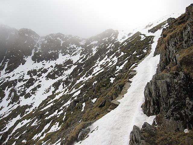 The Pyg track towards Bwlch Glas