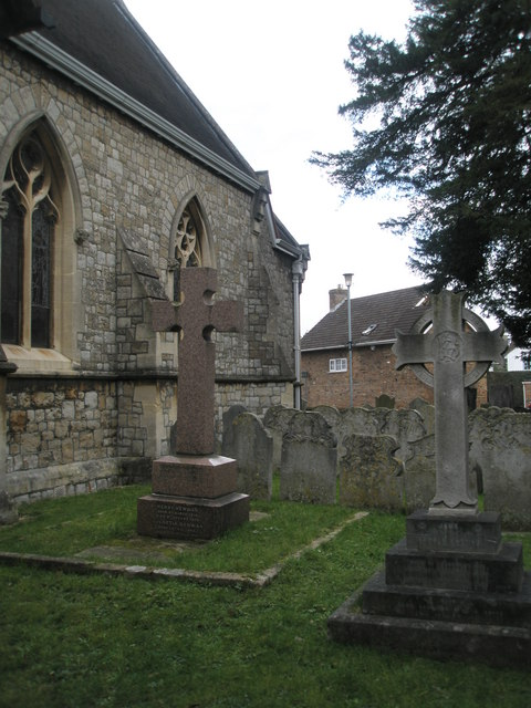 Crosses in Datchet Churchyard