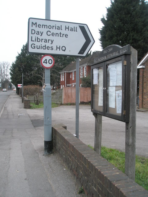 Notice board outside Old Windsor community facilities