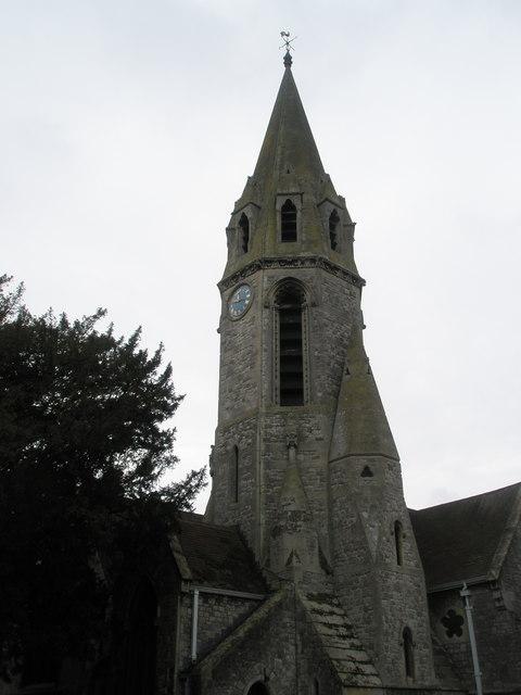 The spire of Datchet Parish Church