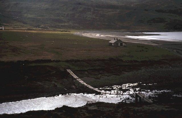 Suspension Bridge and Bothy at Camasunary