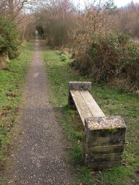 Seat by the bridleway