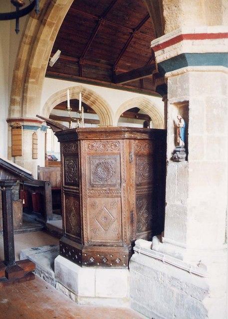 St Peter & St Paul, Mottistone - Pulpit