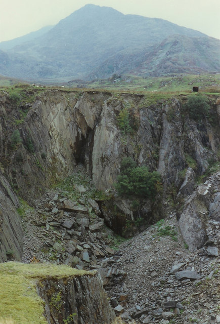 Slate quarry below Moel Siabod