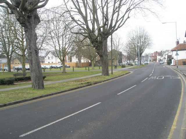 Looking along Horton Road towards The Green