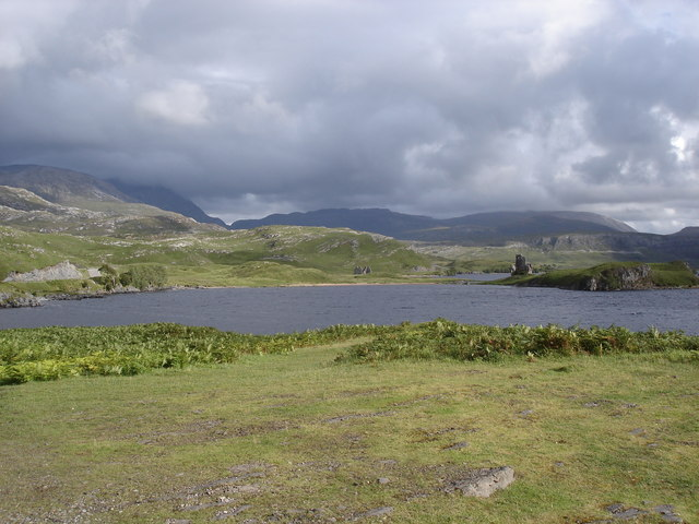 Loch Assynt and Ardvreck Castle