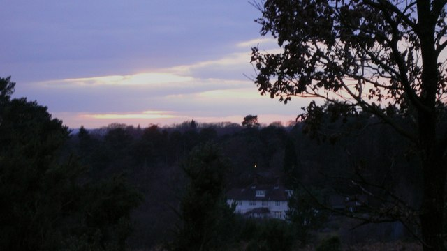 House on Polecat Hill at dusk