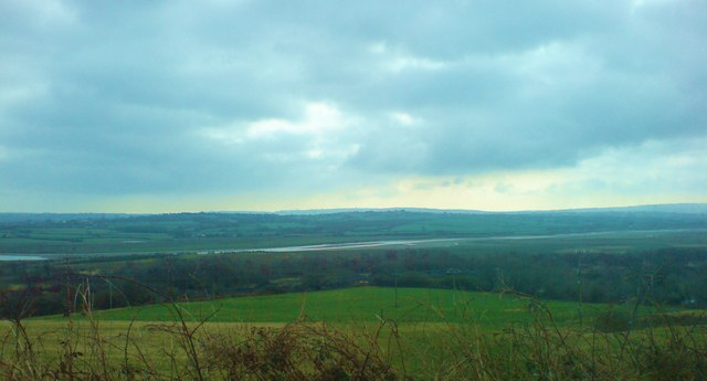 Afon Loughor from the road (before it becomes an estuary)