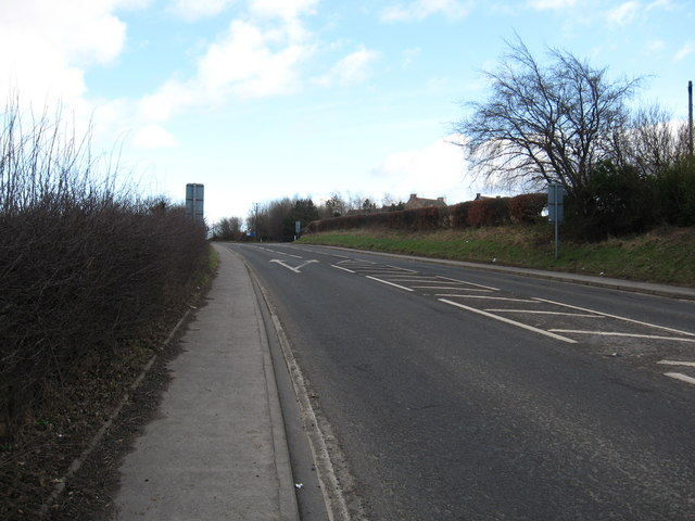 The A68 heading away from Dalkeith