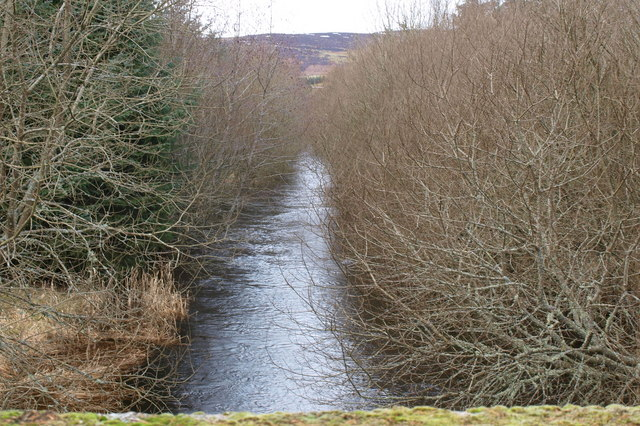 View of Melgam Water upstream near Loch of Lintrathen