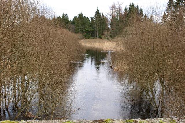 Melgam Water entering Lintrathen Loch