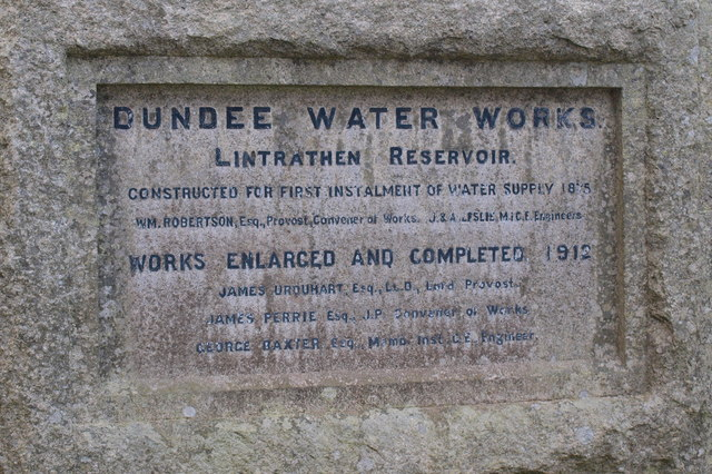 Notice on wall of Lintrathen Loch