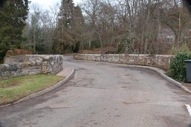 Bridge over the Melgam Water at Bridgend of Lintrathen Village