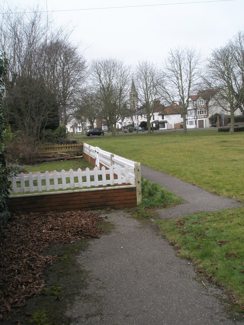 Looking from Horton Road towards the parish church
