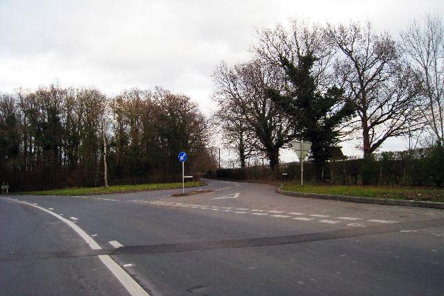 Junction of Merriments Lane
