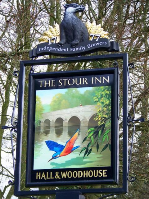 Sign for the Stour Inn