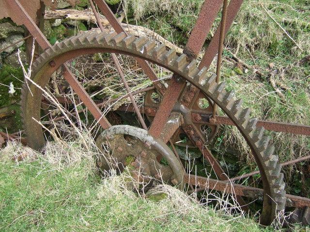 Detail of waterwheel, Trellwyn-fach