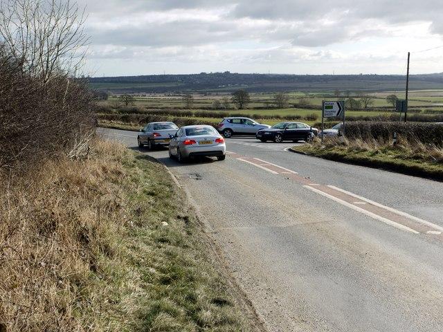 Busy road junction near Callerton Grange
