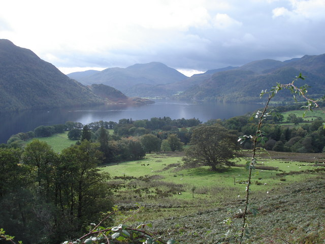 Head of Ullswater from the path above Lyulph's Tower