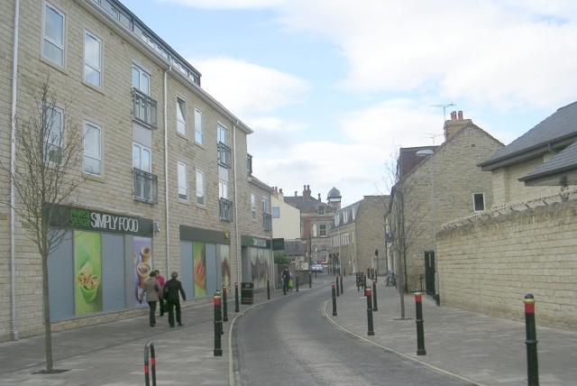 Horsefair - viewed from Hallfield Lane