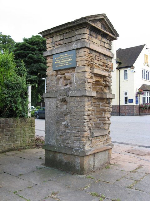 Nuthall Temple entrance gate pillar