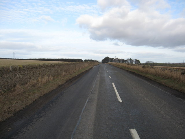 A straight section of the B6458