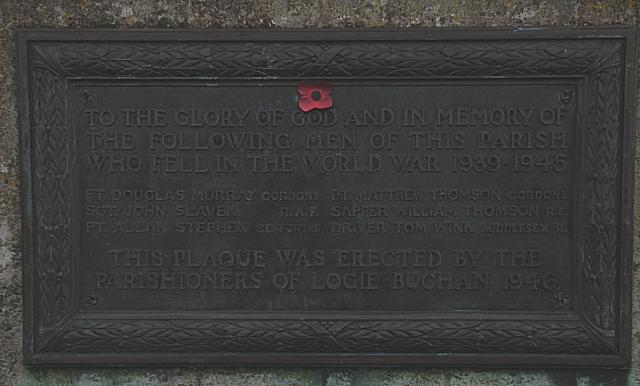 Plaque on Logie Buchan Bridge (2)