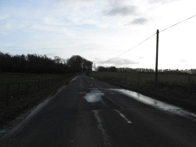 The B6367 near Tynehead in Midlothian