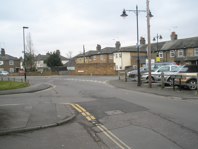 Junction of Eton Court and Meadow Lane