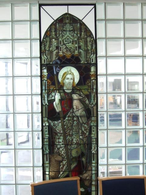 Stained Glass window inside St Luke's Church