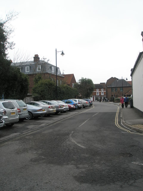Looking eastwards  along Eton Court towards the High Street