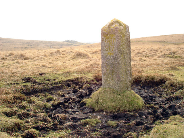 Burrator Reservoir Boundary Stone