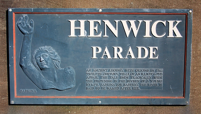 Plaque on Henwick Parade