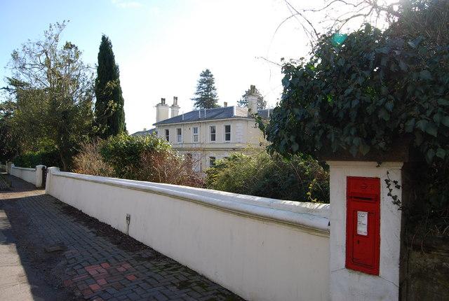 Postbox & villa, Camden Park