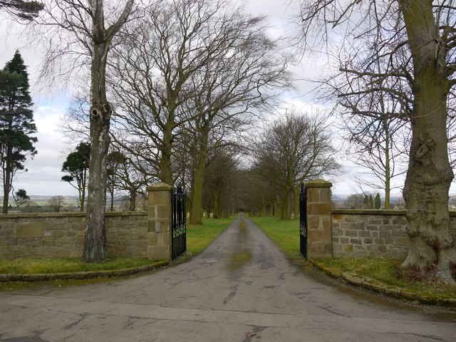 Gate at driveway to Birney Hall