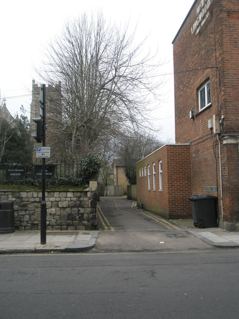 Junction of Church Close and the High Street