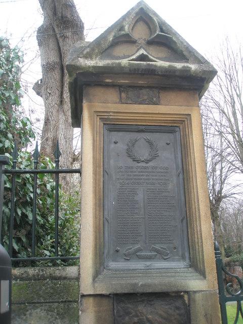 Commemorative plaque outside St John the Evangelist, Eton