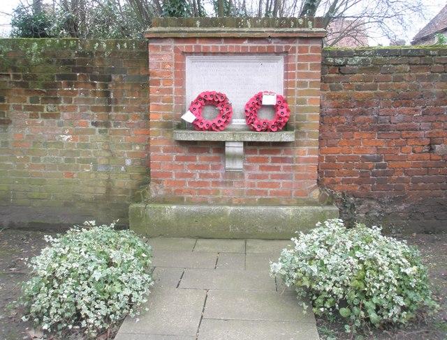 War memorial within the churchyard of St John the Evangelist, Eton