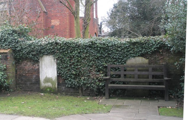 Seat in the churchyard at St John the Evangelist, Eton