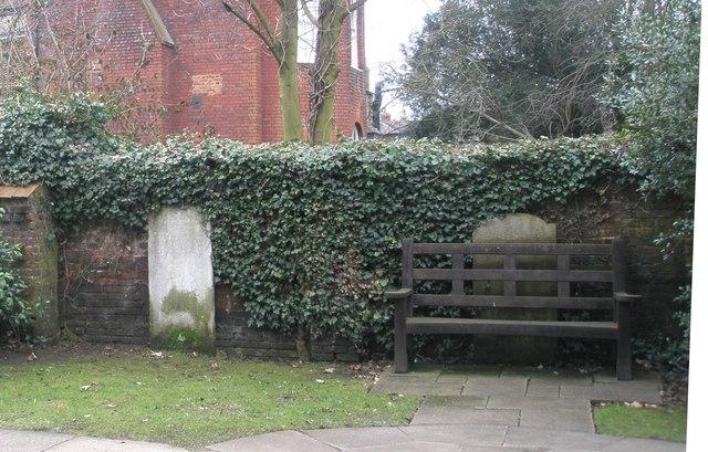 Seat in the churchyard at St John the Evangelist, Eton