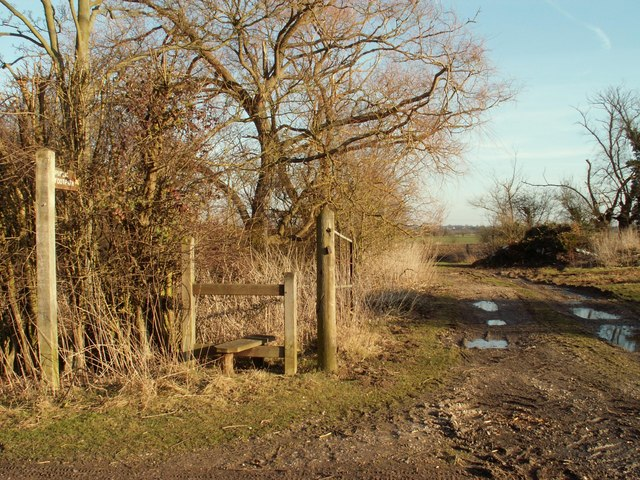 Public footpath, viewed from Radley Green Road