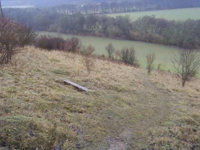 Footpath down the hillside