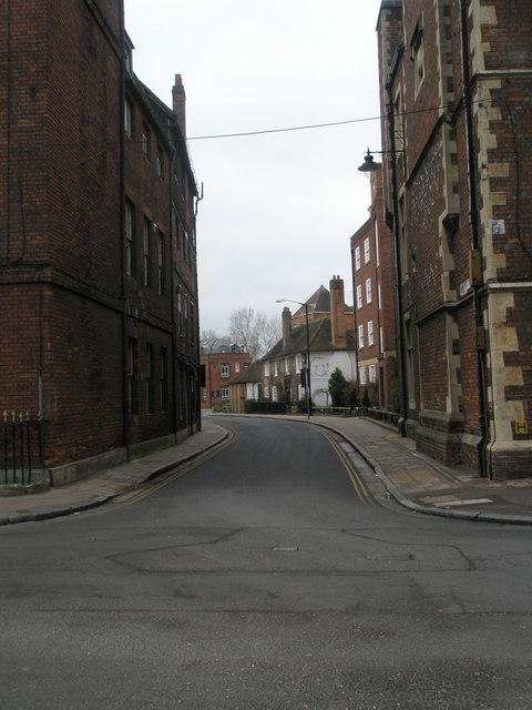 Looking westwards along Keates Lane
