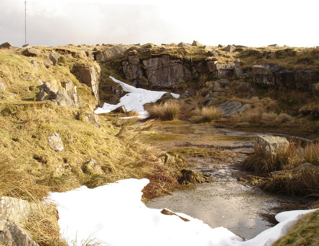 """Hill 60"" Quarry near Hollow Tor"