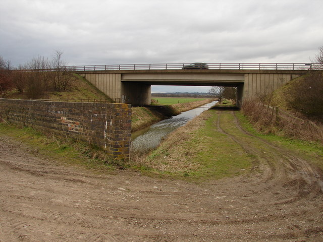 Bridge over the A46 near Main Drain