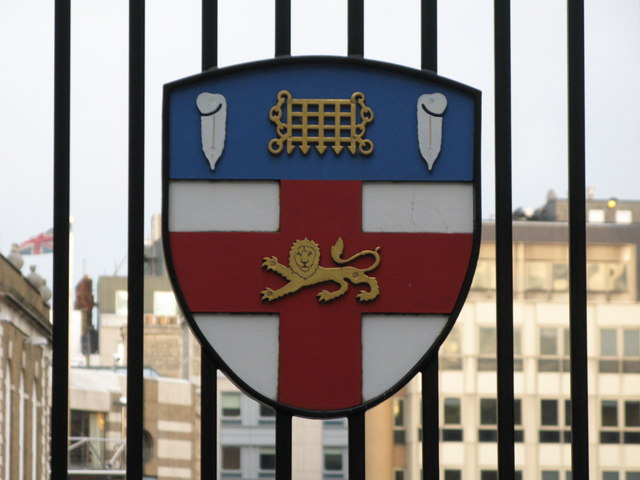Coat of arms on the gates to the HAC Sports Ground, Bunhill Row, EC1